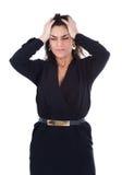 Woman terrible pain Royalty Free Stock Image