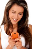 Woman text messaging Stock Images