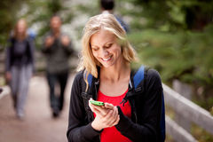Woman Text Phone Stock Images