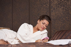 Woman texting Royalty Free Stock Photo