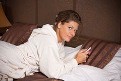Woman texting Royalty Free Stock Images