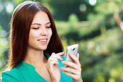 Woman texting messages Royalty Free Stock Image