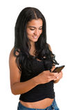 Woman Texting on a Phone Stock Photos