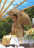 Woman with Thai dress Stock Photo