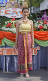 Woman with Thai dress Royalty Free Stock Photo