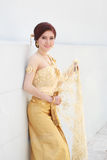 Woman with Thai dress Royalty Free Stock Image