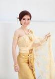 Woman with Thai dress Stock Photos