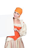 Woman in a theatrical outfit Stock Photography