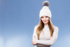 Woman in thermal underwear stock photos