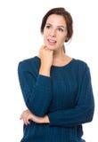 Woman think of idea Royalty Free Stock Photos