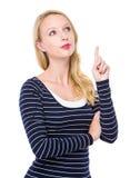Woman think of idea Stock Photo