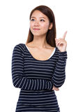 Woman think of idea Stock Photography