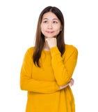 Woman think of idea Stock Image