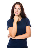 Woman think of problem Royalty Free Stock Photography