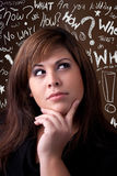 Woman Thinker Stock Photo