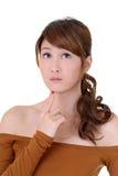 Woman thinking Stock Image