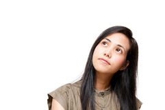 Woman thinking Royalty Free Stock Image