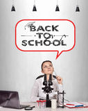 Woman thinking about back to school Stock Images