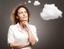Woman thinking Stock Image