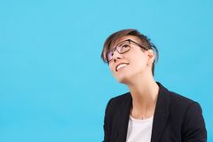 Woman thinking Stock Images