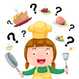 Woman thinking what to cook  Royalty Free Stock Photo