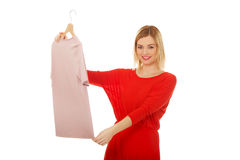 Woman thinking what to wear. Stock Photography
