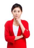 Woman thinking Royalty Free Stock Photos