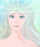 Woman with third eye. Psychic supernatural senses Stock Photo