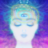 Woman with third eye, Royalty Free Stock Photography
