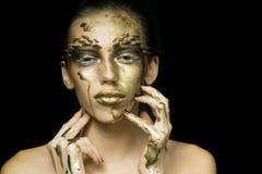 Woman with thorn makeup Royalty Free Stock Photos