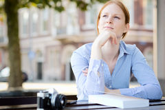 Woman in Thought Royalty Free Stock Photos