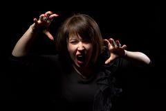 Woman throwing a temper tantrum Royalty Free Stock Photos