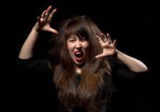 Woman throwing a temper tantrum Royalty Free Stock Image