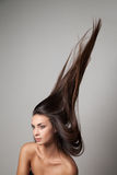 Woman thrown up her hair Royalty Free Stock Images