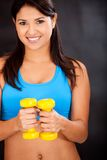 Woman tht the gym Stock Photo