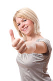 Woman with thumb up royalty free stock photos