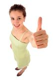Woman With Thumb Up Royalty Free Stock Image