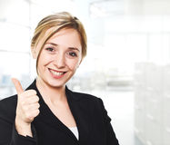 Woman thumb up Stock Photos