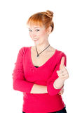 Woman with thumb up Stock Photography