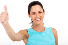Woman thumb up Royalty Free Stock Photos