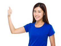 Woman with thumb up Stock Photo