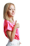 Woman with thumb up Stock Image