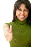 Woman with thumbs up Stock Photos