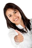 Woman with thumbs up Royalty Free Stock Images