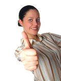 Woman with thumbs up. Royalty Free Stock Images