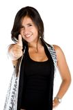 Woman with thumbs-up Royalty Free Stock Image