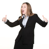 Woman With Thumbs Up Stock Image