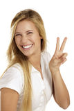 Woman  with thumbs up Royalty Free Stock Photography