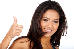 Woman - thumbs up Royalty Free Stock Image