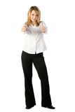 Woman with Thumbs Up Stock Photography